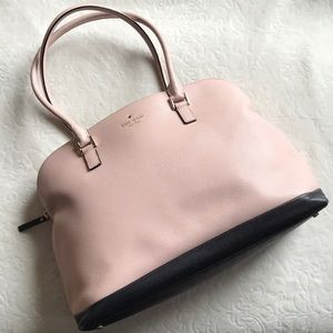 Kate Spade Blush pink/ black handbag